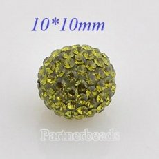 10mm Green STELLUX Austrian crystal ball beads