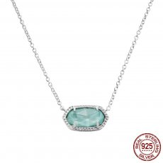 S925 Sterling Silver Kendra Scott style Elisa pendant necklace with Turquoise GM5006 0.8*1.5cm pendant size