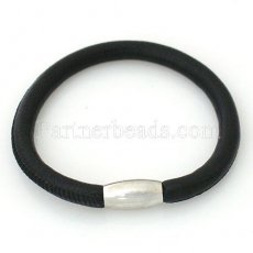 Discount price sale 20CM Black Leather Bracelets