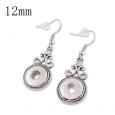 Fit 12mm Snaps Earrings with Rhinestone fit snaps chunks