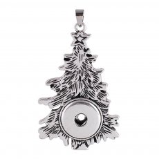 Christmas Tree Pendant of necklace without chain  KC0354 fit snaps style 18/20mm snaps jewelry