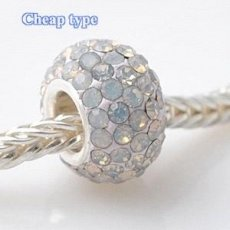 Cheap type Rhinestones beads with white copper core