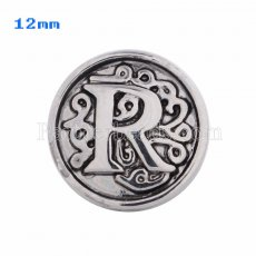 12mm R Antique snaps Silver Plated KS5020-S snap jewelry