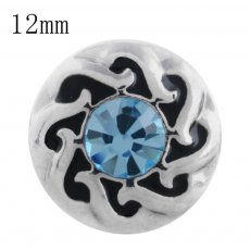 12MM design snap with blue Rhinestone KS5191-S interchangeable snaps jewelry
