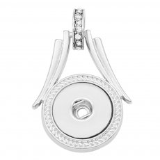snap sliver Pendant with Vintage drill fit 20MM snaps style jewelry KC0426