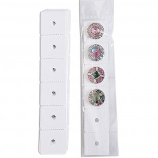 10pcs/set 15.5CM*2.5CM snap buttons  Paper Cards Include Plastic Package  Fit 6pcs 20mm snaps