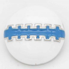 20MM Rugby snap sliver Plated with blue enamel KC6659 snaps jewelry