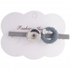 Hairpin 8CM with one button and Pendants Fit 18mm Chunks