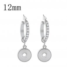 snap earring with rhinestone fit 12MM snaps style jewelry KS1227-S