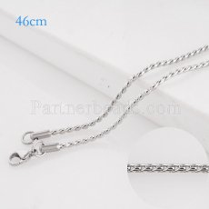46CM Stainless steel fashion chain fit all jewelry silver plated FC9033