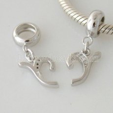 partner sterling silver dangle letter charm beads - Y