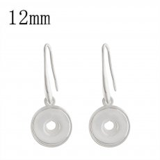 snap sliver earring fit 12MM snaps jewelry KS1198-S