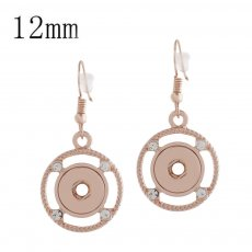 snap rose gold Earring fit 12MM snaps style jewelry KS1166-S