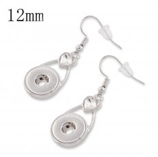 Snaps metal earring with Rhinestone KS1122-S fit 12mm chunks snaps jewelry