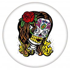 20MM Painted Skull enamel metal C5723 print snaps jewelry