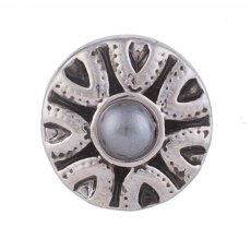 12MM Roud snap Antique Silver Plated with pearl KB5513-S snaps jewelry