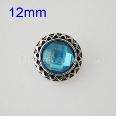 12MM Round snap Antique Silver Plated with  rhinestone KB8552-SN snaps jewelry