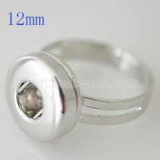 Anillo de metal en forma de mini broches 12mm