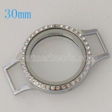 Dia 30 MM Floating Locket fit Watch belt bracelet