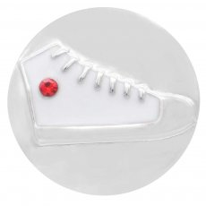 20MM Gym shoes snap silver Plated with red Rhinestones and enamel  KC7832 snaps jewerly