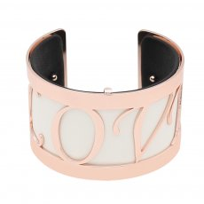 Copper Bangle with real leather black/white double side TA7034