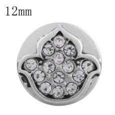 12MM design snap with white rhinestone KS5205-S interchangeable snaps jewelry
