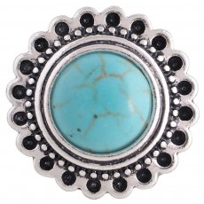 20MM round snap silver plated with green Turquoise  KC8909 interchangable snaps jewelry