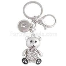 Alloy fashion Keychain with pendant and buttons fit snaps chunks KC1155 Snaps Jewelry