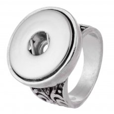 18MM 8 # broches metálicos Anillo en forma Dedos gruesos 17.5mm