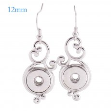 Snaps metal earring KS1103-S fit 12mm chunks snaps jewelry