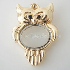 Owl golden floating locket