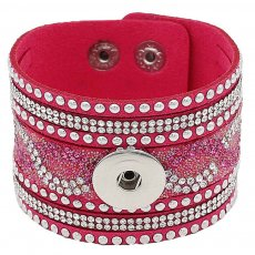 Partnerbeads 21CM rose leather bracelets fit 18/20MM snaps chunks KC0299 snaps jewelry