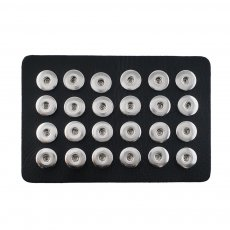 Display of 24 pieces PU leather black type for 18&20MM snaps chunks