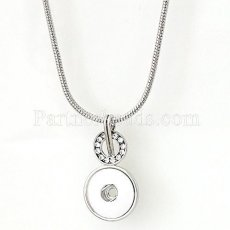 Pendant Necklace with 45CM chain Fit 18mm Chunks