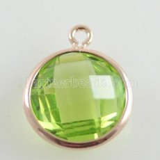Glaskristall baumeln Charms durch 12mm color005