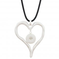 Loveheart pendant sliver Necklace with 80CM line chain KC1060 snaps jewelry