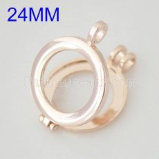 25MM Alloy Rose Gold coin locket pendant Fit 25MM coin disc
