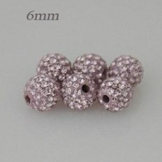 6mm Purple STELLUX Austrian crystal ball beads