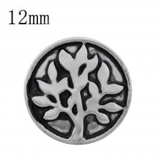 12MM Tree Snap versilbert KS9693-S Snaps Schmuck