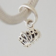 partner sterling silver dangle charm beads-crown