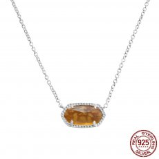 S925 Sterling Silver Kendra Scott style Elisa pendant necklace with red agate GM5009 0.8*1.5cm pendant size