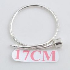 17CM partner sterling silver bracelets with plain clip