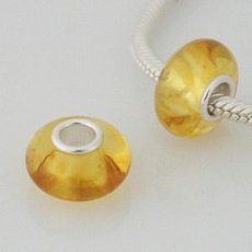 partner sterling silver natural amber beads