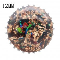 15MM Thick glossy round colorful Amber snap fit 12MM small system KS7019-S snaps jewelry