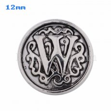 12mm W Antique snaps Silver Plated KS5023-S snap jewelry