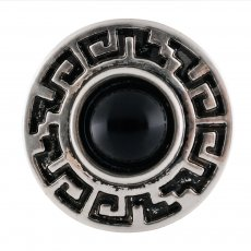 20MM Round snap Silver Plated with black Turquoise stone  KC7669 snaps jewelry