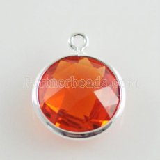 Glaskristall baumeln Charms durch 12mm color013