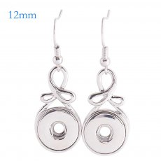 Snaps metal earring KS1102-S fit 12mm chunks snaps jewelry