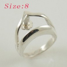 S925 Silver Ring for beads;Bead it ring