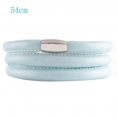 54CM Light blue Leather Bracelet of Endless Jewelry LM1507-54
